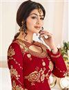 photo of Festive Special Ayesha Takia Georgette Red Embellished Long Anarkali