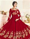 image of Festive Special Ayesha Takia Georgette Red Embellished Long Anarkali