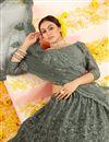 photo of Mehendi Green Color Embroidered Wedding Wear Lehenga Choli In Net Fabric