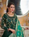 picture of Wedding Function Wear Designer Readymade Gown In Satin Silk With Heavy Dupatta