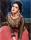 photo of Zarine Khan Pink Net Lehenga Choli-22006