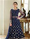 image of Designer Function Wear Floor Length Anarkali Dress In Net Fabric
