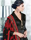 photo of Black Function Wear Satin Silk Anarkali Suit With Fancy Work
