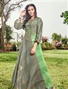 image of Soothing Jacquard Fabric Grey Color Function Wear Designer Kurti