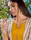 photo of Gorgeous Rayon Fabric Mustard Color Party Wear Kurti With Fancy Jacket