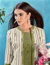 photo of Awesome Cotton Fabric Function Wear Green Color Designer Kurti With Fancy Jacket