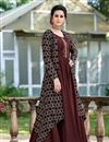 photo of Brown Color Party Wear Art Silk Fabric Fancy Gown