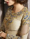 photo of Beige Color Embroidered Designer Salwar Suit in Art Silk Fabric