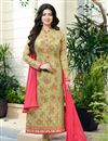image of Fabulous Mehendi Green Color Designer Georgette Suit Featuring Ayesha Takia
