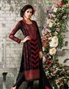image of Black Party Wear Georgette Salwar Kameez