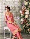 photo of Peach Georgette Designer Salwar Suit with Work