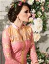 picture of Peach Georgette Designer Salwar Suit with Work