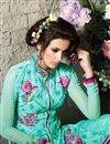 picture of Sky Blue Georgette Party Wear Salwar Kameez