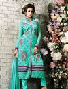 image of Sky Blue Straight Cut Georgette Salwar Kameez
