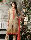 image of Beige Designer Party Wear Georgette Salwar Suit