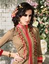 photo of Chikoo Straight Cut Party Wear Georgette Salwar Su