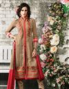 image of Chikoo Straight Cut Party Wear Georgette Salwar Su