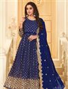 image of Blue Color Party Style Embroidered Georgette Fabric Anarkali Salwar Suit