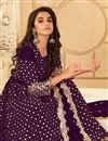 photo of Purple Color Georgette Fabric Party Style Embroidered Anarkali Salwar Kameez