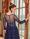 photo of Function Wear Navy Blue Color Embroidered Anarkali Suit In Net Fabric
