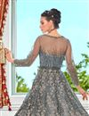 photo of Grey Color Function Wear Net Fabric Embroidered Anarkali Dress