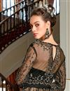 photo of Black Color Net Fabric Function Wear Embroidered Anarkali Dress