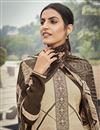 photo of Beige Color Embroidery Work Crepe Fabric Office Wear Salwar Kameez
