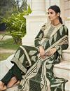 photo of Crepe Fabric Beige Color Office Wear Salwar Kameez