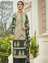 image of Crepe Fabric Beige Color Office Wear Salwar Kameez