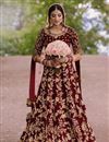 image of Party Wear Embroidered Floor Touch Anarkali Suit