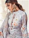 photo of Casual Wear Grey Color Classic Cotton Fabric Printed Straight Cut Dress