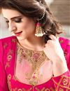 photo of Eye-Catchy Pink Color Festive Wear Designer Anarkali Salwar Suit With Embroidery Work