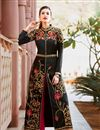 image of Alluring Black Color Designer Embroidered Anarkali Suit