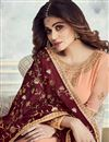 photo of Shamita Shetty Function Wear Sharara Top Lehenga In Peach Georgette