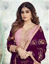 photo of Shamita Shetty Designer Embroidered Sharara Top Lehenga In Pink