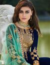 photo of Fancy Georgette Party Style Embroidered Navy Blue Palazzo Suit