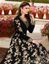 photo of Embroidery Designs On Black Color Georgette Fabric Function Wear Anarkali Salwar Suit