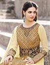 photo of Function Wear Georgette Beige Anarkali Salwar Suit