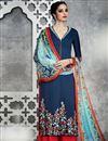 image of Navy Blue Color Cotton Satin Tantalizing Pakistani Style Palazzo Suit