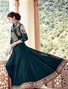 photo of Wedding Special Teal Georgette Long Floor Length Anarkali Salwar Suit