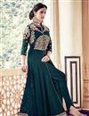 image of Wedding Special Teal Georgette Long Floor Length Anarkali Salwar Suit
