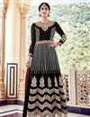 image of Black Fancy Floor Length Anarkali Dress In Georgette