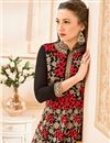 photo of Gauhar Khan Georgette Black Long Anarkali Salwar Suit