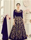 image of Blue Color Glamorous Georgette Festive Wear Anarkali Salwar Suit Featuring Gauhar Khan