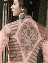 photo of Peach Festive Wear Embroidered Salwar Kameez
