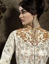 picture of Off White Wedding Wear Sharara Top Lehenga Choli