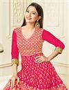 photo of Gauhar Khan Featuring Art Silk Designer Embroidered Anarkali Dress