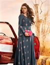image of Soothing Dark Grey Color Art Silk Fabric Office Party Kurti