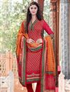 image of Straight Cut Red Pashmina Salwar Kameez-203A