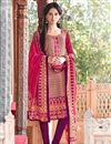 image of Peach Party Wear Pashmia Salwar Kameez-205A